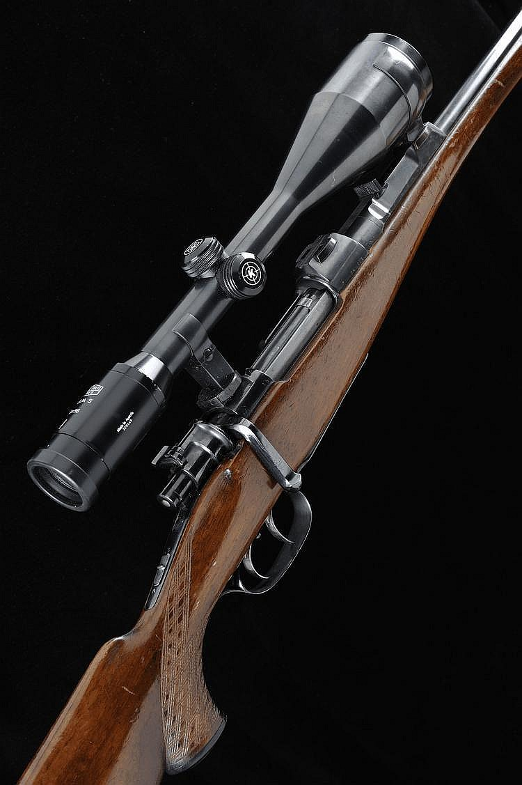 F.N. A BELGIAN 7X57 BOLT-ACTION SPORTING RIFLE,