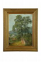 LANDSCAPE WITH TREE BY DAVID JOHNSON (AMERICA, 1827-1908).