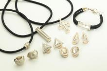 GROUP OF ARELLA SILVER JEWELRY.