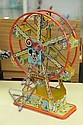 MICKEY MOUSE FERRIS WHEEL. Tin lithographed ferris wheel produced by Chein. 16 3/4
