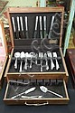 SET OF HEIRLOOM STERLING SILVER FLATWARE. In the Mansion House pattern. Eight dinner knives. 8 3/4