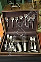 SET OF TOWLE STERLING SILVER FLATWARE. In the Silver Flutes pattern. Twelve dinner knives. 9