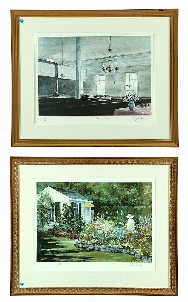 TWO LIMITED EDITION PRINTS AFTER RAY ELLIS (SOUTH CAROLINA/MASSACHUSETTS, B. 1921).