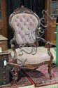 PAIR OF VICTORIAN GENTLEMAN'S CHAIRS.