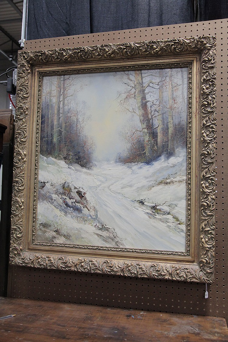 WINTER SCENE BY KORT (B. 1928)