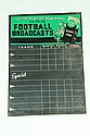 NATIONAL UNION RADIO TUBE FOOTBALL SCORE ADVERTISING SIGN.
