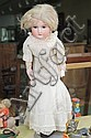BISQUE HEAD DOLL. A&M doll with brown eyes and an open mouth. 22
