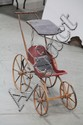WOODEN DOLL BUGGY.