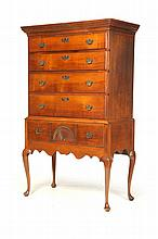 QUEEN ANNE HIGH CHEST OF DRAWERS.