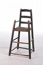 LADDERBACK HIGH CHAIR.