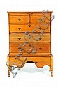 COUNTRY QUEEN ANNE MULE CHEST ON FRAME.