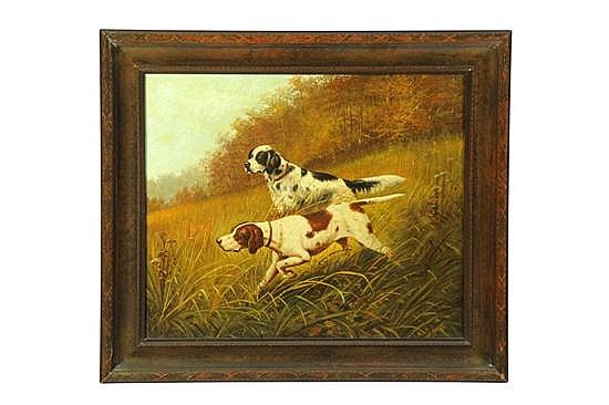HUNTING SCENE BY WILLIAM MCKENDREE SNYDER (INDIANA, 1848-1930).