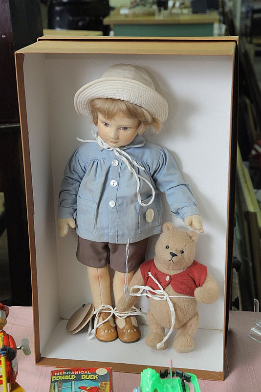 TWO R. JOHN WRIGHT DOLLS. Christopher Robin. 19
