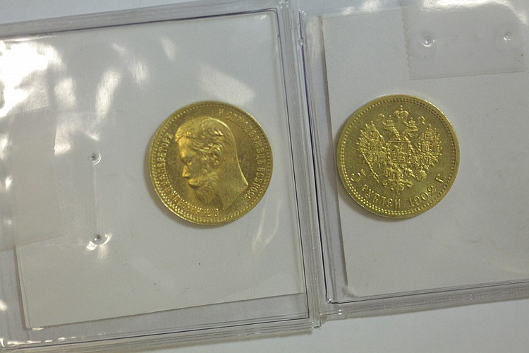 TWO GOLD COINS.