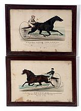 TWO CURRIER AND IVES PRINTS.