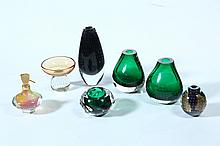 SEVEN PIECES OF CONTEMPORARY ART GLASS.