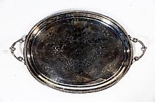 SILVER PLATED TRAY.