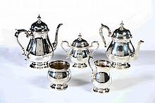 FISHER STERLING COFFEE AND TEA SET.