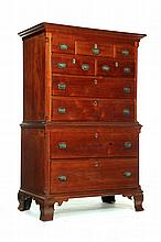 ****CHIPPENDALE CHEST-ON-CHEST.