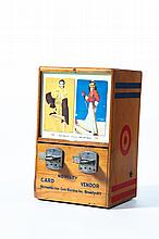 TABLE TOP NOVELTY CARD DISPENSER.