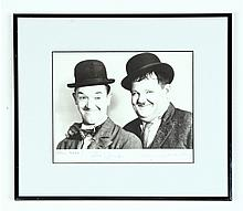 SIGNED AND DATED LAUREL AND HARDY PHOTO.