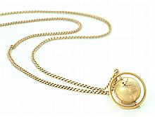 GOLD GLOBE PENDANT ON CHAIN