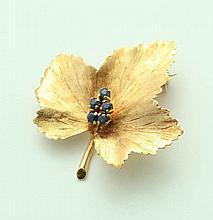TIFFANY LEAF PIN.