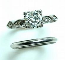PLATINUM AND DIAMOND WEDDING SET