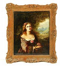 FRAMED PORTRAIT OF A LADY.
