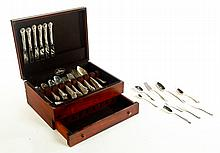 SET OF GORHAM STERLING FLATWARE.