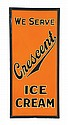 CRESCENT ICE CREAM ADVERTISING SIGN.