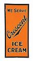 CRESCENT ICE CREAM ADVERTISING SIGN.