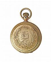 14K ELGIN HUNTER CASE POCKET WATCH