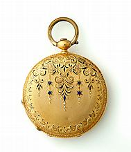 18K BOURQUIN HUNTER CASE POCKET WATCH