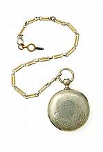 WALTHAM COIN SILVER HUNTER POCKET WATCH