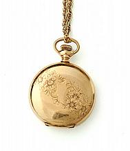 WALTHAM GOLD FILLED HUNTER CASE POCKET WATCH