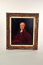 FRAMED PORTRAIT OF A GENTLEMAN (ENGLISH SCHOOL, 19TH CENTURY).