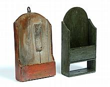 TWO HANGING BOXES.