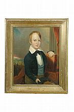 PORTRAIT OF A BOY (AMERICAN SCHOOL, 2ND QUARTER-19TH CENTURY).