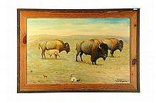 BISON BY LOUIS SHIPSHEE ( KANSAS/CALIFORNIA, 1896-1975).