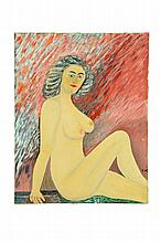 PORTRAIT OF A NUDE WOMAN (AMERICAN SCHOOL, 2ND HALF-20TH CENTURY).