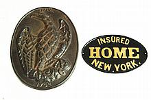 ***CAST IRON FIRE INSURANCE PLAQUE.