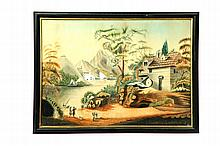 FANCIFUL LANDSCAPE (POSSIBLY AMERICAN SCHOOL, EARLY 19TH CENTURY).