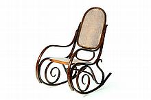THONET BENTWOOD ROCKING CHAIR.