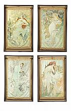 THE SEASONS AFTER ALPHONSE MUCHA (CZECH REPUBLIC, 1860-1939).