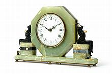 ART DECO MANTLE CLOCK.