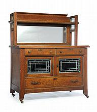 ARTS AND CRAFTS SIDEBOARD IN THE MANNER OF ROYCROFT