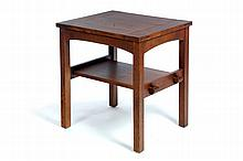 SIDE TABLE BY L. & J. G. STICKLEY.