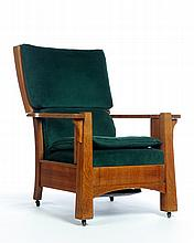 L. AND J. G. STICKLEY MORRIS CHAIR.