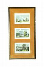 FIVE ARCHITECTURAL ENGRAVINGS.